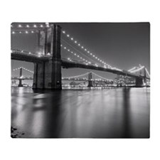 Brooklyn Bridge and Manhattan Bridge Throw Blanket