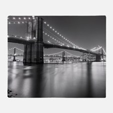 Brooklyn Bridge and Manhattan Bridge Throw Blanket