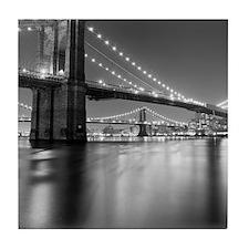 Brooklyn Bridge and Manhattan Bridge  Tile Coaster