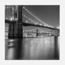 Brooklyn Bridge and Manhattan Bridge  Tile Coaster