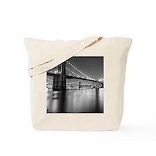 Brooklyn Bridge and Manhattan Bridge at N Tote Bag