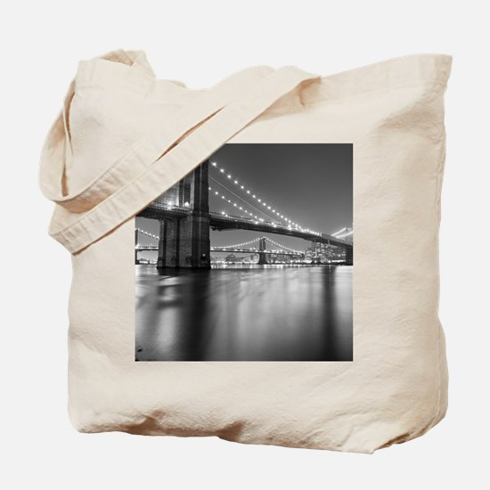 Brooklyn Bridge and Manhattan Bridge at N Tote Bag