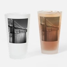 Brooklyn Bridge and Manhattan Bridg Drinking Glass