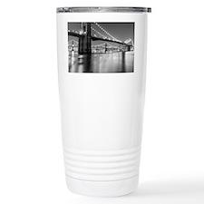 Brooklyn Bridge and Man Travel Coffee Mug