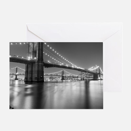 Brooklyn Bridge and Manhattan Bridge Greeting Card