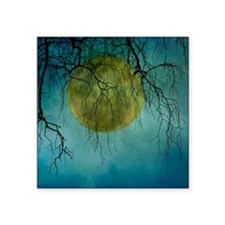 """A huge full moon behind bar Square Sticker 3"""" x 3"""""""