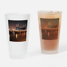 Battersea Power Station at night wi Drinking Glass