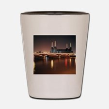 Battersea Power Station at night with l Shot Glass