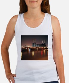 Battersea Power Station at night  Women's Tank Top