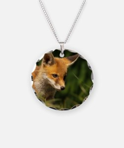 A young Red Fox cub peering  Necklace