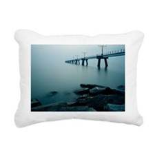Bridge with water in Hon Rectangular Canvas Pillow