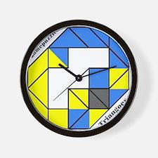 TRIANGOES gamepuzzles Wall Clock