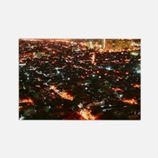 City of Jakarta at night, Malaysi Rectangle Magnet