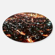 City of Jakarta at night, Malaysia Sticker (Oval)