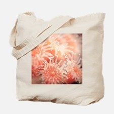 An underwater photograph of a pinkish sea Tote Bag