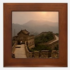 Aerial view of the Great Wall of China Framed Tile