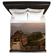 Aerial view of the Great Wall of China King Duvet