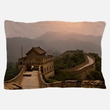 Aerial view of the Great Wall of China Pillow Case