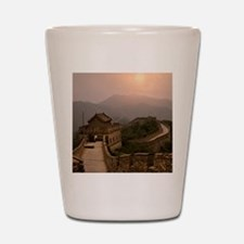 Aerial view of the Great Wall of China Shot Glass