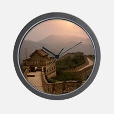 Aerial view of the Great Wall of China Wall Clock
