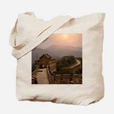 Aerial view of the Great Wall of China Tote Bag