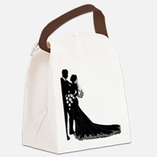 Elegant Couple Canvas Lunch Bag