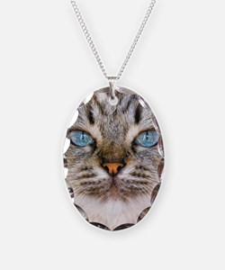 Beautiful blue eyes of a longh Necklace