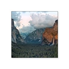 "Bridal Veil Falls, Yosemite Square Sticker 3"" x 3"""