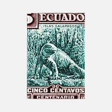 1936 Ecuador Galapagos Land Iguan Rectangle Magnet