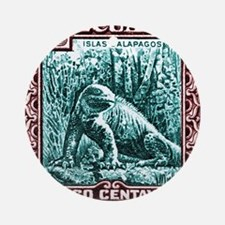 1936 Ecuador Galapagos Land Iguana  Round Ornament