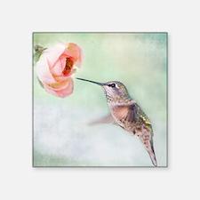 "Close up of hummingbird in- Square Sticker 3"" x 3"""