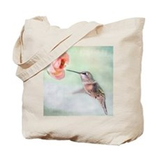 Close up of hummingbird in-flight and pin Tote Bag
