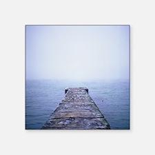 "Birds on pier in Arcadia, O Square Sticker 3"" x 3"""