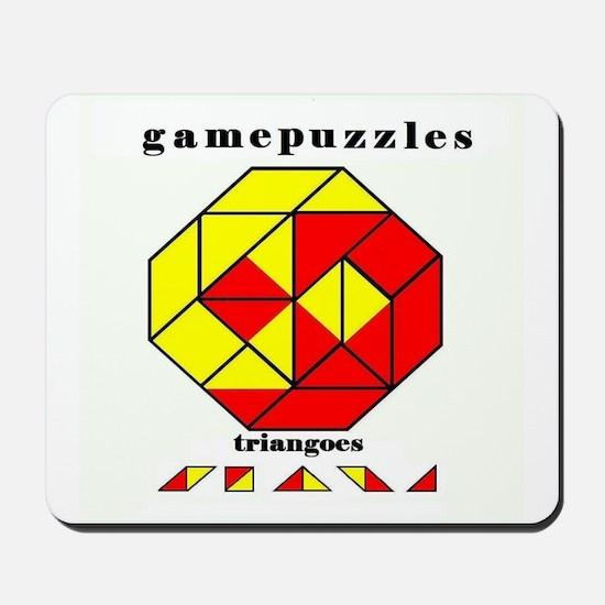 TRIANGOES JR gamepuzzles Mousepad