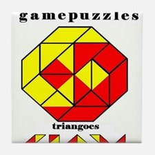 TRIANGOES JR gamepuzzles Tile Coaster