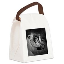 Black and white image of ram, UK. Canvas Lunch Bag