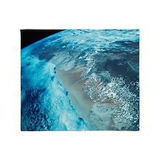 Coastline on Earth Throw Blanket