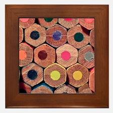 Colored pencils. Framed Tile
