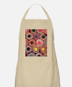 Colored pencils. Apron