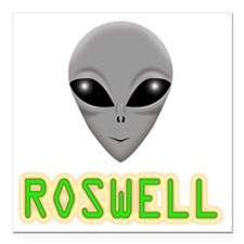 """ROSWELL Square Car Magnet 3"""" x 3"""""""