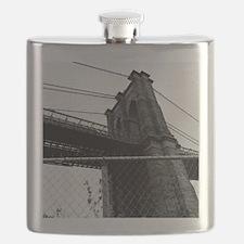 Bridge In Manhattan, New York, United States Flask