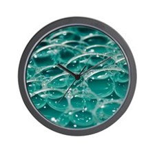 Colorful bubbles. Wall Clock
