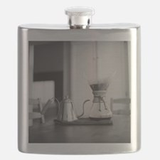 Chemex coffee maker and kettle for water. Flask