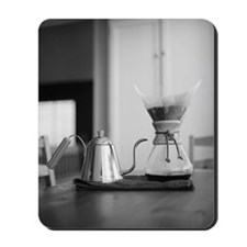Chemex coffee maker and kettle for water Mousepad