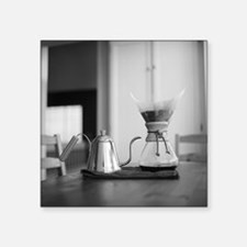 "Chemex coffee maker and ket Square Sticker 3"" x 3"""
