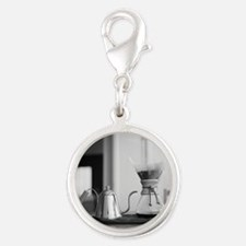 Chemex coffee maker and kettle Silver Round Charm