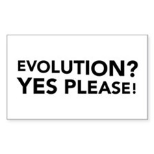 Evolution? Yes Please! Rectangle Decal