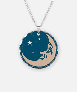 Crescent shaped moon with a  Necklace