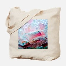 Drops on peony flower. Tote Bag