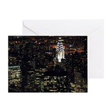 Chrysler Building at night, New York Greeting Card
